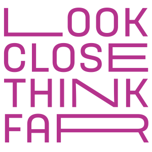 Look close think far