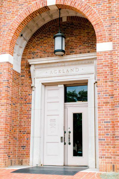 Front door of the Ackland Art Museum