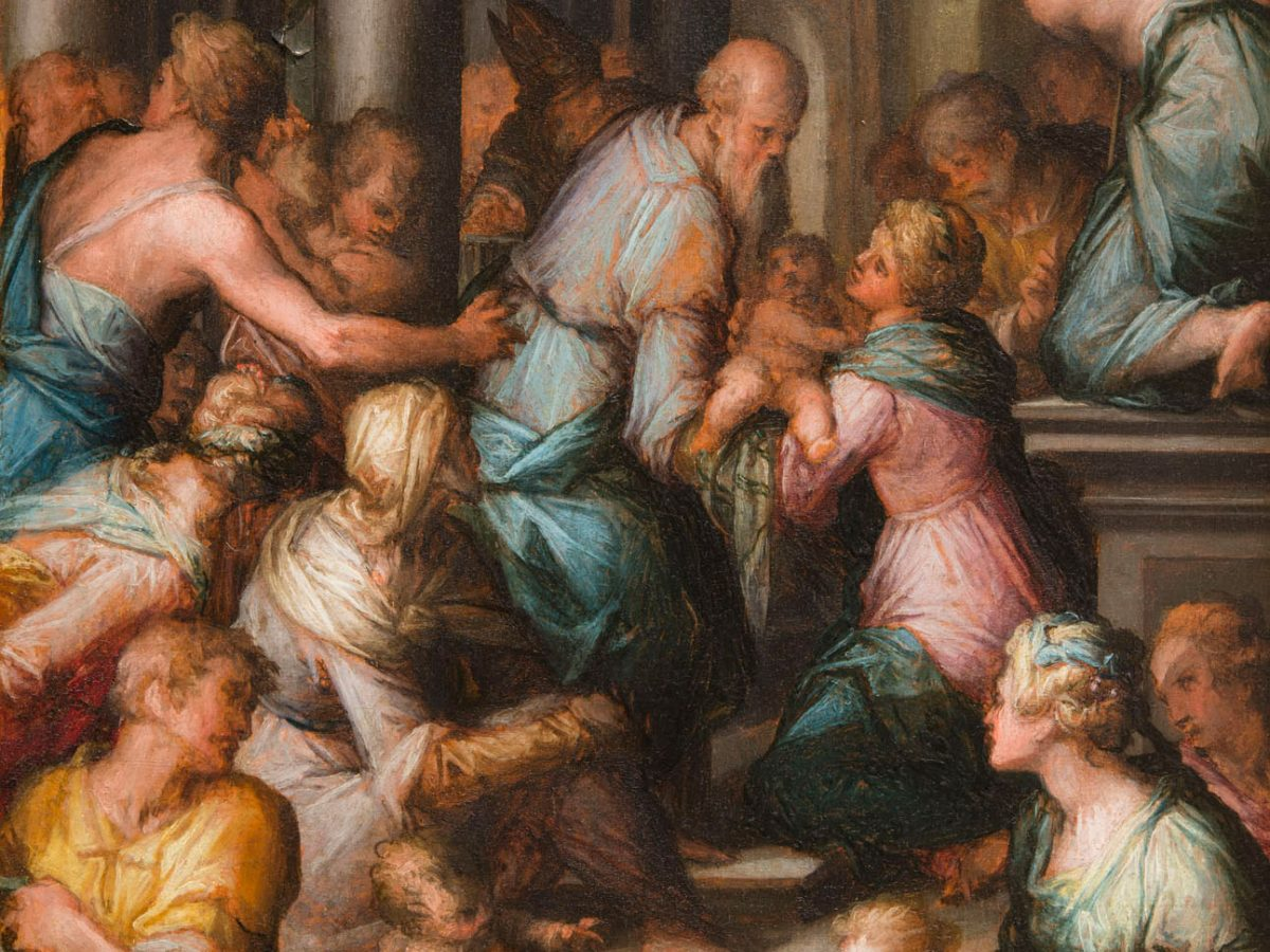 Painting of The Presentation in the Temple by Giovanni Battista Naldini
