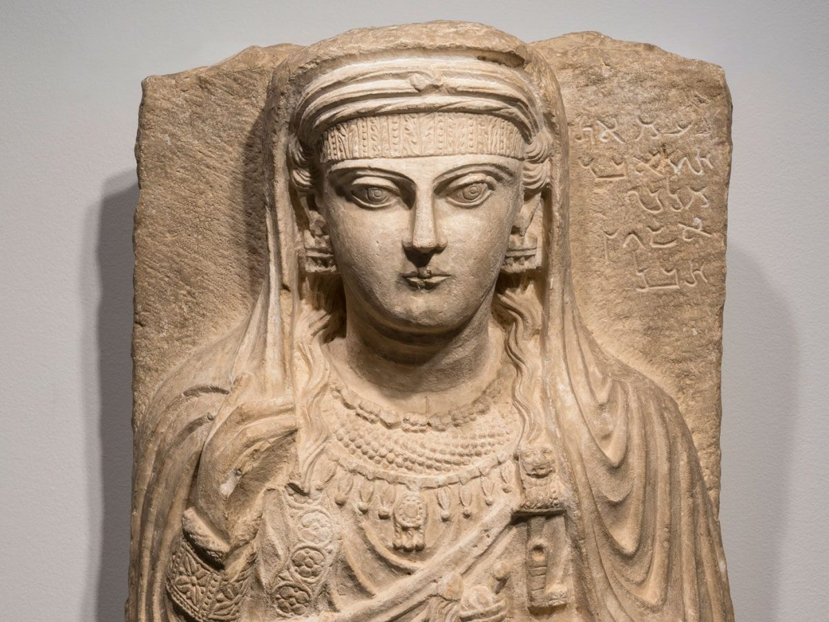 Carving of a woman