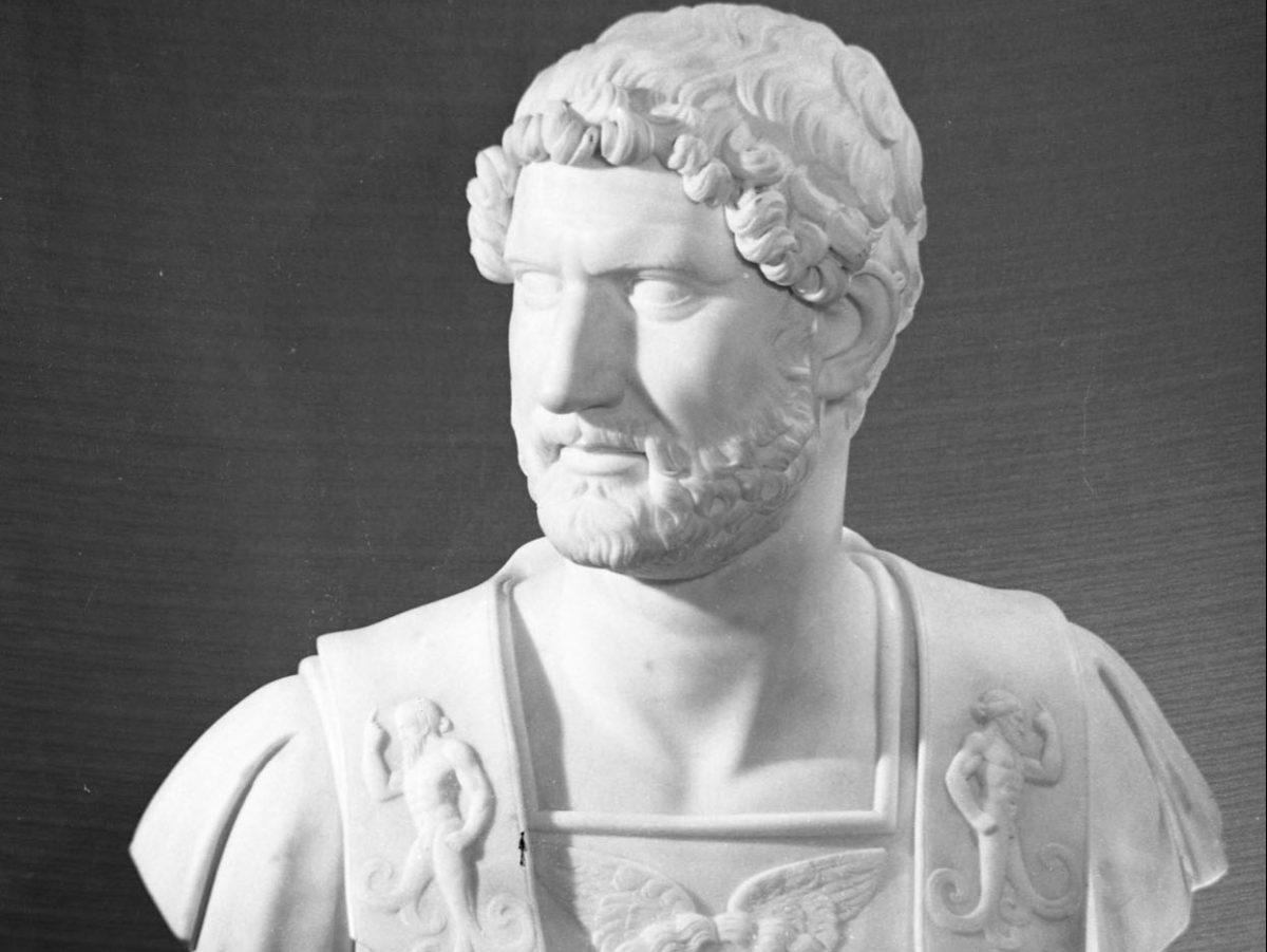 Sculpture of Emperor Hadrian