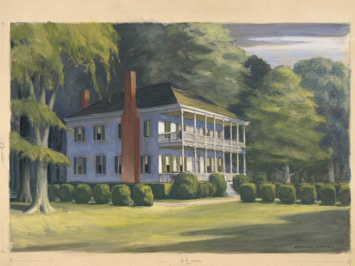 painting of a plantation house