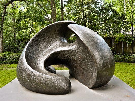 Large metal sculpture outside