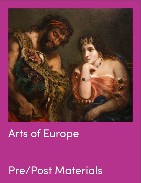 Arts of Europe Pre and Post Visit Materials and painting of Cleopatra