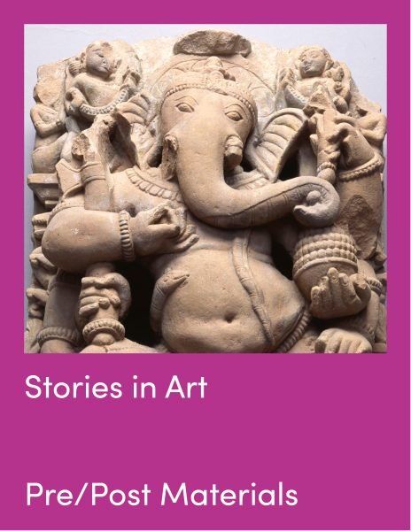 Stories In Art Pre and Post Visit Materials and statue of Ganesha