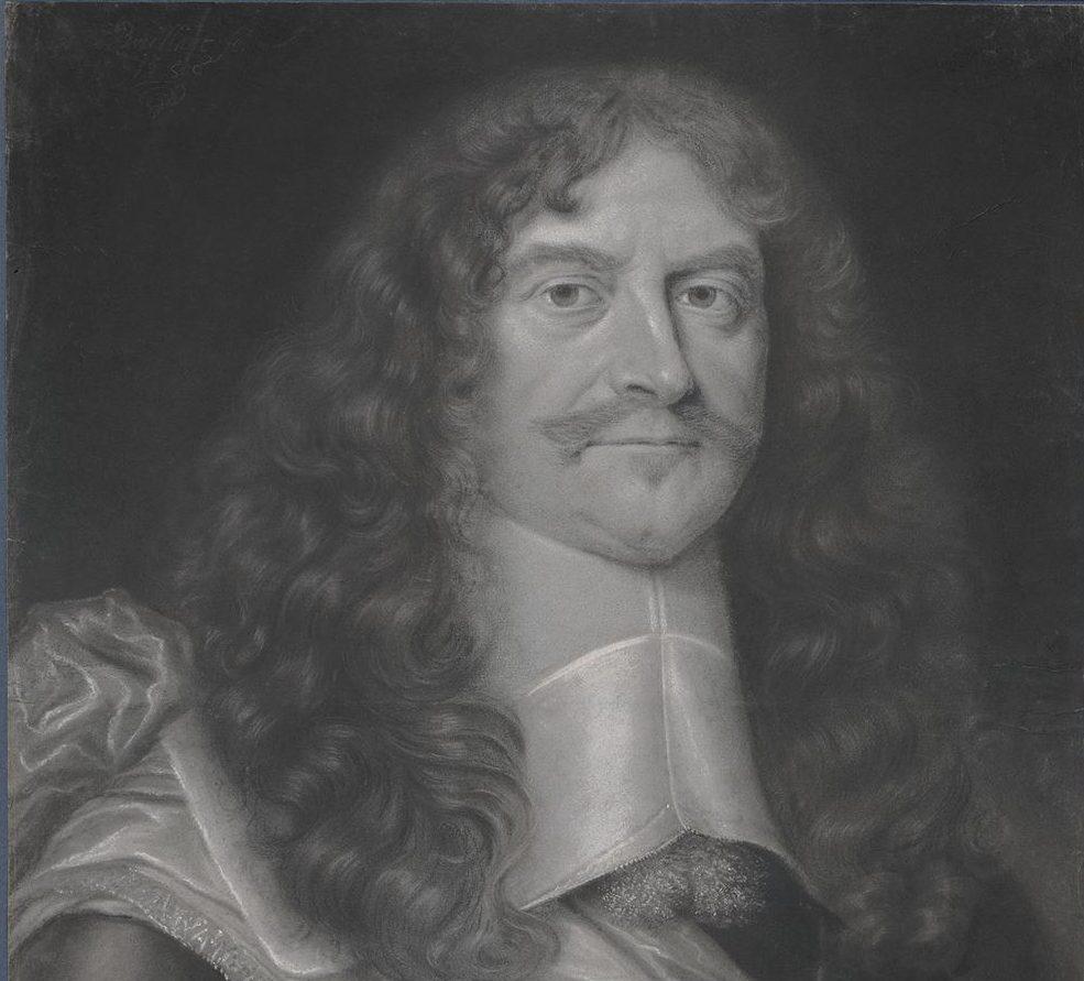 Portrait drawing of Antoine III, Duc de Gramont, Marshal of France