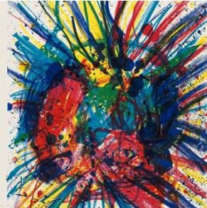 abstract painting of a heart