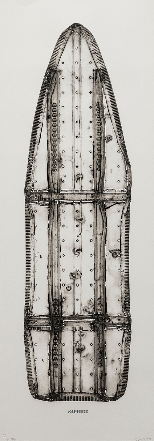 X-Ray image of ironing board