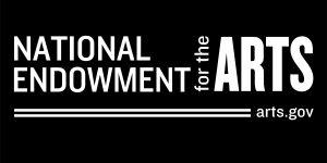 White logo on black background for National Endowment for the Arts